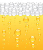 Beer bubbles background Vector illustration