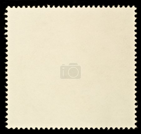 Photo for Blank Postage Stamp Framed by Black Border - Royalty Free Image