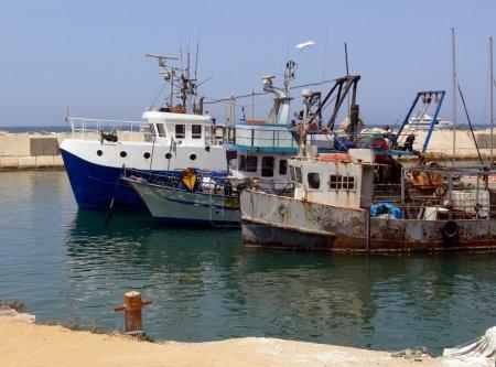 Mediterranean sea, port Jaffo, Israel.