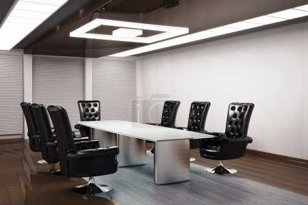 Photo for Conference room interior 3d render - Royalty Free Image