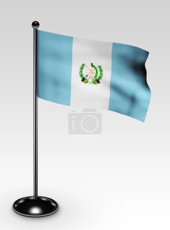 Small Guatemala flag clipping path