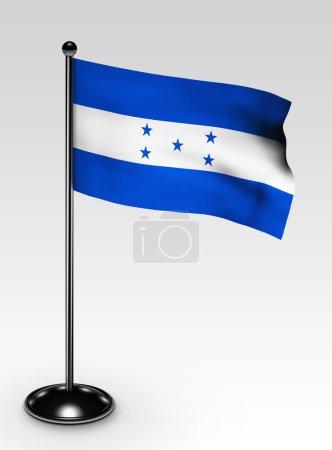 Small Honduras flag clipping path