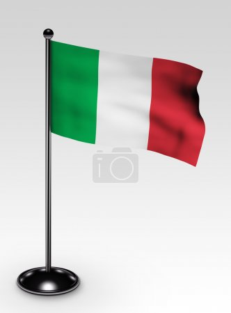 Small Italy flag clipping path