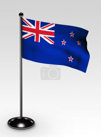 Small New Zealand flag clipping path