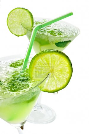 Photo for Close up margaritas with lime - Royalty Free Image