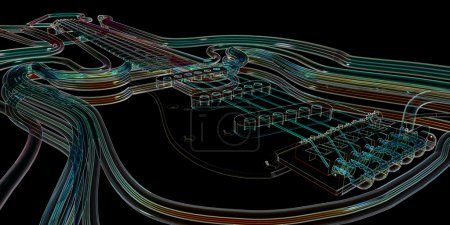 Photo for Abstract Guitar background - Royalty Free Image