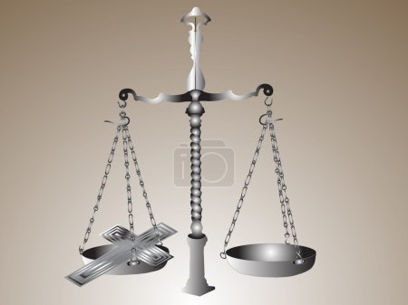 Scales with cross