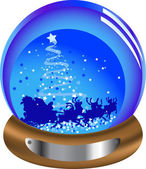 Christmas glass snow globe with santa