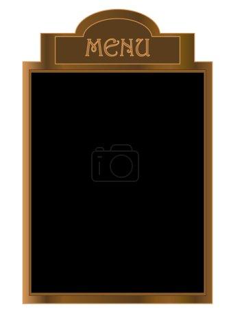 Illustration for Black menu board - vector illustration - Royalty Free Image
