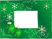 Green christmas frame - vector illustration
