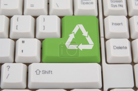 Keyboard and green recycling key
