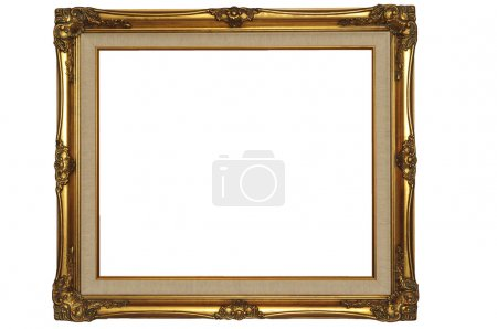 Photo pour Cadre en or isolé - image libre de droit