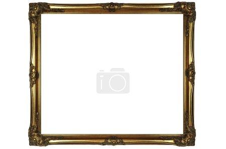 Photo pour Cadre en or isolé sur blanc - image libre de droit