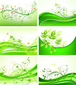 Abstract floral background set
