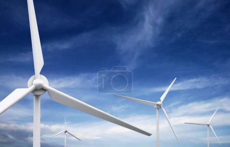 Wind farm: Industrial Eolic installation