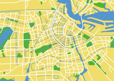 Illustration pour Carte vectorielle de amsterdam . - image libre de droit