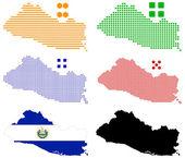 Pixel mapa el Salvador
