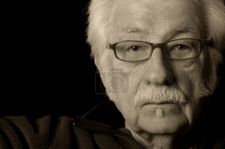 Photo for Artistic black and white portrait of an older man - Royalty Free Image
