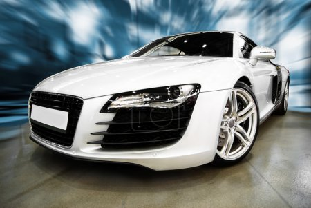 Photo for Super Prestige white Sports Car - Royalty Free Image