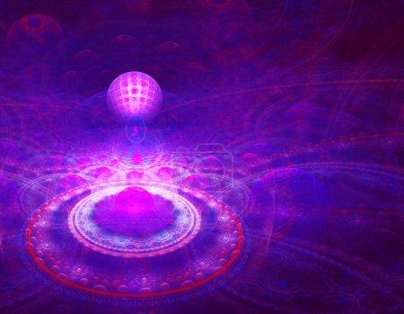 Photo pour Résumé Contexte fractal - image libre de droit