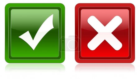 Photo pour Un jeu d'icônes de validation - image libre de droit