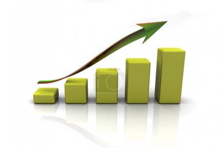 Photo pour Finances d'entreprise graphique, graphique, diagramme - image libre de droit