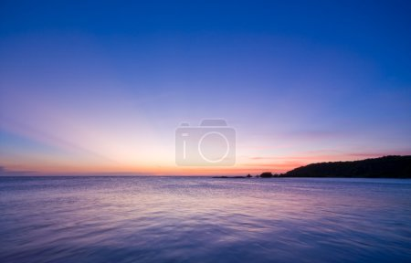Photo for Sunset over the sea with nice pastel colors - Royalty Free Image