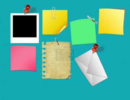 Photo pour Illustration de babillard avec beaucoup de zones pour le texte - image libre de droit