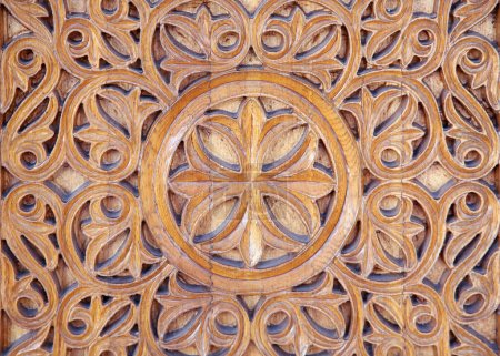 Ornate carved wood