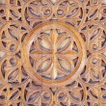 Ornate wood carving...