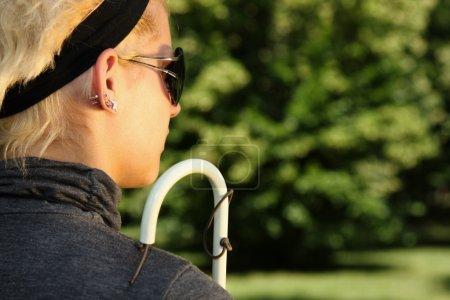 Blind woman portrait