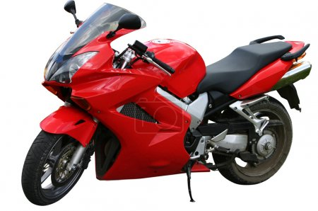 Red speed bike