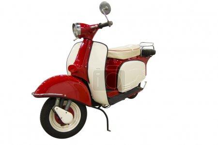 Roter Oldtimer-Roller (Weg inklusive))