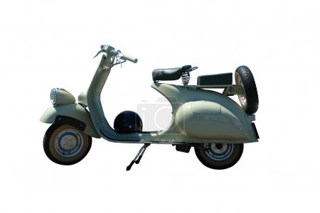 Vintage green scooter (path included)