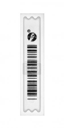 Photo for Small black-and-white barcode sticker - Royalty Free Image