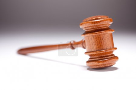 Gavel on Gradated Background with Selective Focus....