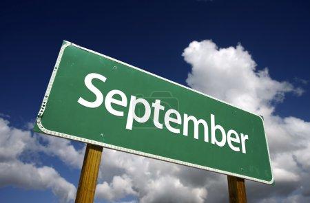 September Green Road Sign