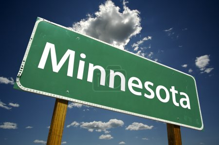Minnesota Green Road Sign