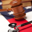 Gavel, Stethoscope and Books on the American Flag ...
