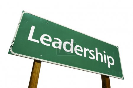 Leadership Road Sign with Clipping Path