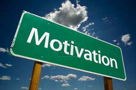 Motivation Road Sign Over Sky
