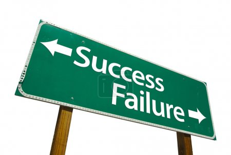 Success, Failure Road Sign with Clipping
