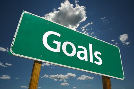 Goals Green Road Sign