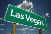 Las Vegas Road Sign Over Clouds and Sky