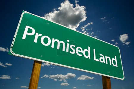 Promised Land Green Road Sign