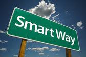 Smart Way Green Road Sign