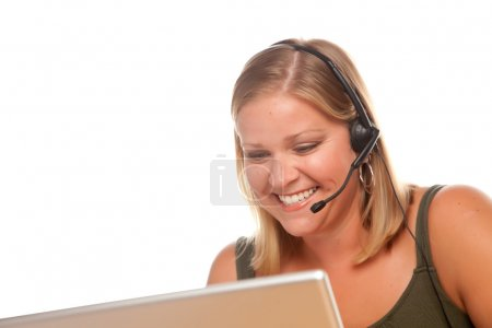 Customer Service Rep on Headset