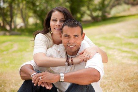 Happy Hispanic Couple in the Park