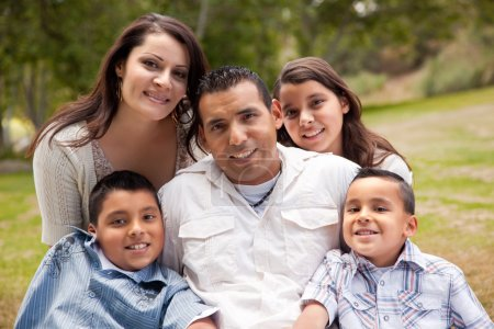 Hispanic Family Portrait In the Park