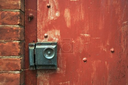 Abstract Vintage Red Door